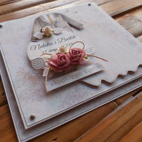 Komplet ślubny w szarości