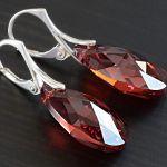 Red Magma - kolczyki - swarovski, srebro