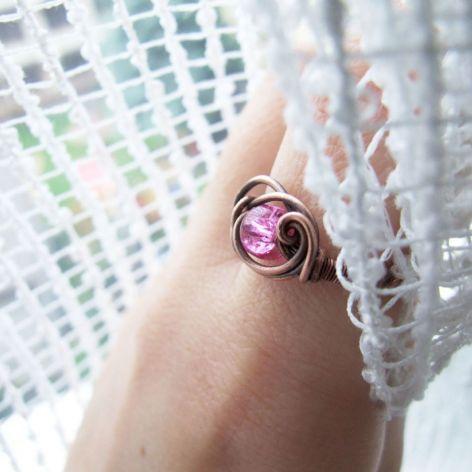 Pink Flame Ring