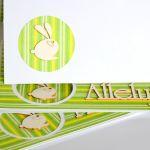 Alleluja z zajączkiem - Środek wielkanocnej kartki