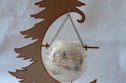 Świecznik kula na choince