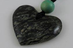 Kamień na szczęście - zielone serce