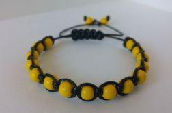 Bransoletka regulowana (czarno-żółta)
