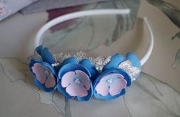 Kwiaty Niebieska opaska do włosów. Kaja-2