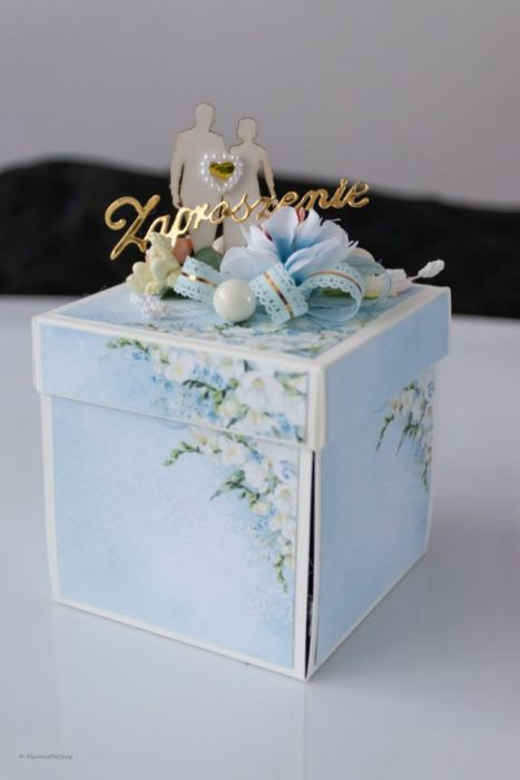 Zaproszenie ślubne Exploding box