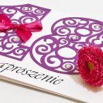 Zaproszenie na 18 osiemnaste urodziny purple - zaproszenie na 18-tkę