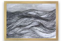 Morze - czarno biały rysunek