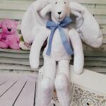 Królik z miękkiego minky - Miękki królik
