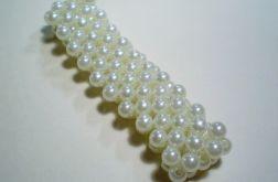 bransoletka biała perłowa 3