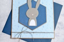 króliś Romuś - kartka na roczek, urodzinki