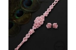 Komplet diniro powder pink soutache