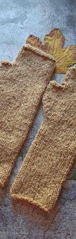 Mitenki Tweed beżowe