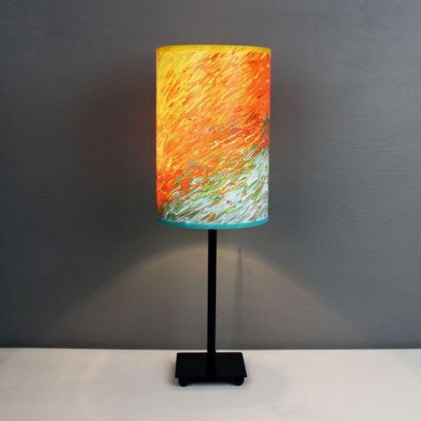 Soczysta lampa żYWIOŁOWOŚĆ, abażur + podstawa