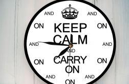 Zegar Ścienny Nowoczesny Keep Calm
