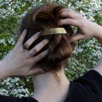 Rybia łuska - mosiężna klamra do włosów 210423-02 - Mosiężna spinka do włosów