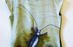 Bluzka jedwabna ręcznie malowan - robal