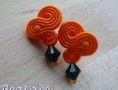 Agnes orange - kolczyki wkrętki sutasz