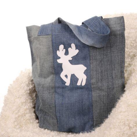Eco torba z jelonkiem dżinsowa