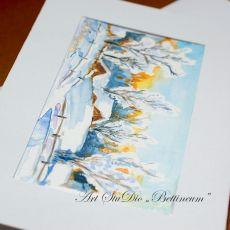 Karnet malowany ręcznie -Akwarela Nr 4-