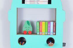 Półka na książki zabawki AUTOBUS | mięta