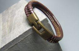 PLECIONY RZEMIEŃ skórzana bransoleta