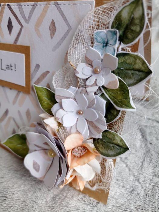Kartka urodzinowa kwiaty - Kartka okolicznościowa - urodzinowa