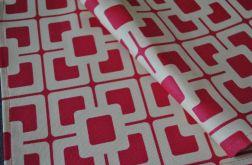 Kwadratowa serweta - różowo-kremowa mozaika 54 x54