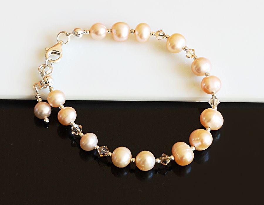 Złocista bransoletka - bransoletka z perłami