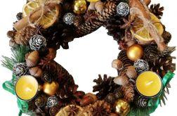 Dekoracja stroik wieniec Wianek świąteczny