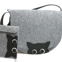 Zestaw torebka z etui koty