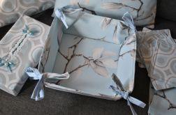 Koszyk na pieczywo - magnolie i łezki