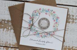 Kartka na chrzest z kopertą - życzenia i personalizacja d8