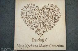 obrazek kartka 15x15cm dla matki chrzestnej