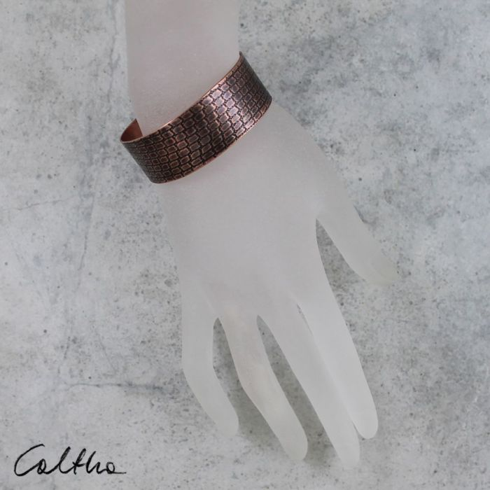Łuska - miedziana bransoletka - 190405-06 - Męska bransoleta