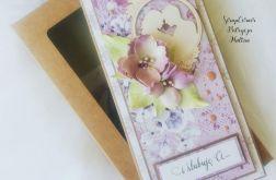 Kartka ślubna w fiolecie