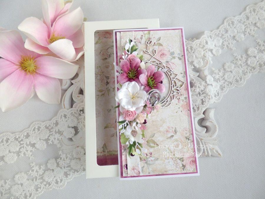 Ślubna kartka w pudełku 197