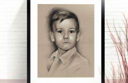 Portret chłopczyka ze zdjęcia na zamówienie