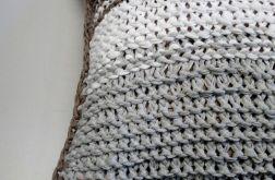 dziergana poszewka bawełniana tasiemka