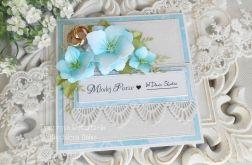 Ślubna kartka w pudełku 44
