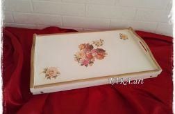 Taca - stolik śniadaniowy - kwiaty