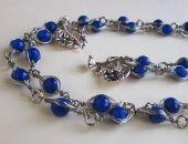 Komplet z niebieskim jadeitem naszyjnik i bransoleta
