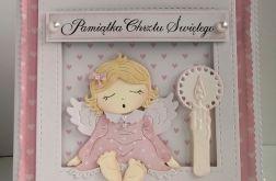 Kartka  z aniołkiem - Chrzest św.