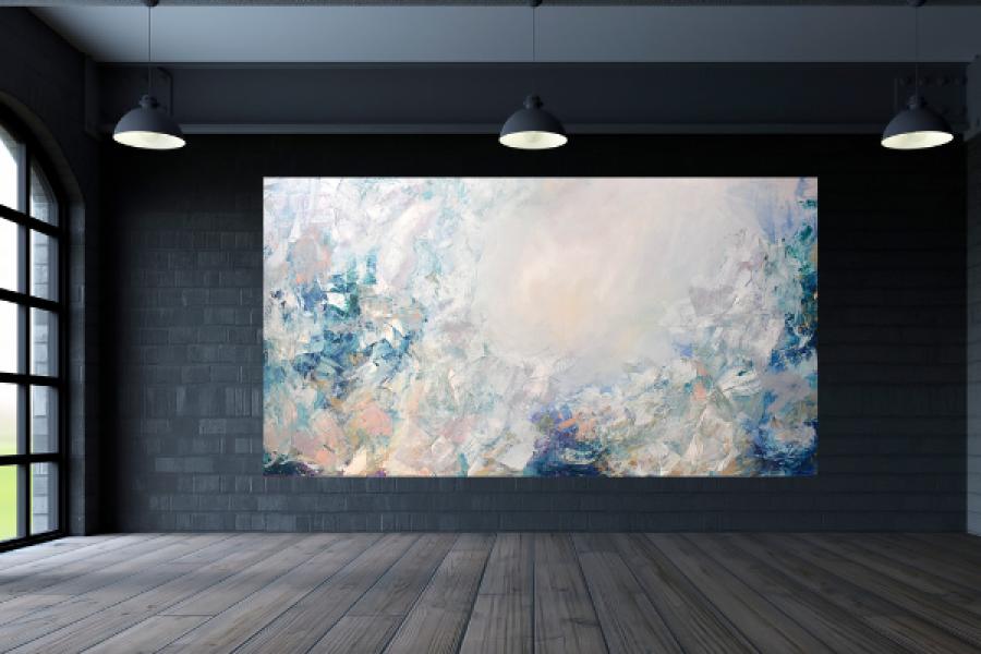 Duży obraz ręcznie malowany 150x80