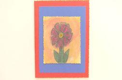 Kartka czerwona z kwiatkiem  14