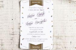 Zaproszenie ślubne CONFETTI 115x170mm B6