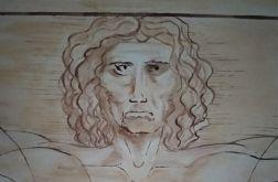 Człowiek wirtuwiański 150x150cm akryl