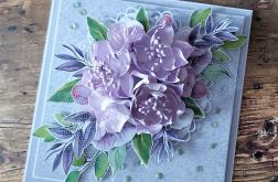 Komplet ślubny w pastelowym fiolecie