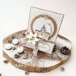 Zimowy domek - kartka świąteczna 1