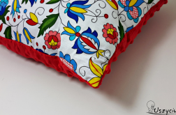 Poduszka kaszubska z czerwonym
