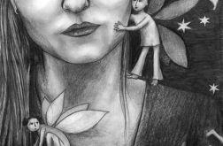 Elfy - oryginalny rysunek 9915